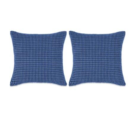 vidaXL Set perne decorative 2 buc. Velur 60 x 60 cm Albastru