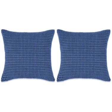vidaXL Set Jastuka 2 kom od Velura 60x60 cm Plavi[1/5]
