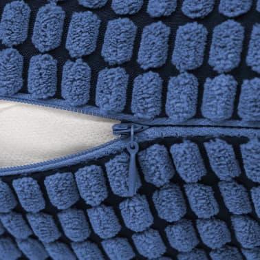vidaXL Set Jastuka 2 kom od Velura 60x60 cm Plavi[5/5]