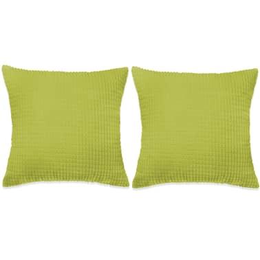 vidaXL Set Jastuka 2 kom od Velura 45x45 cm Zeleni[1/5]