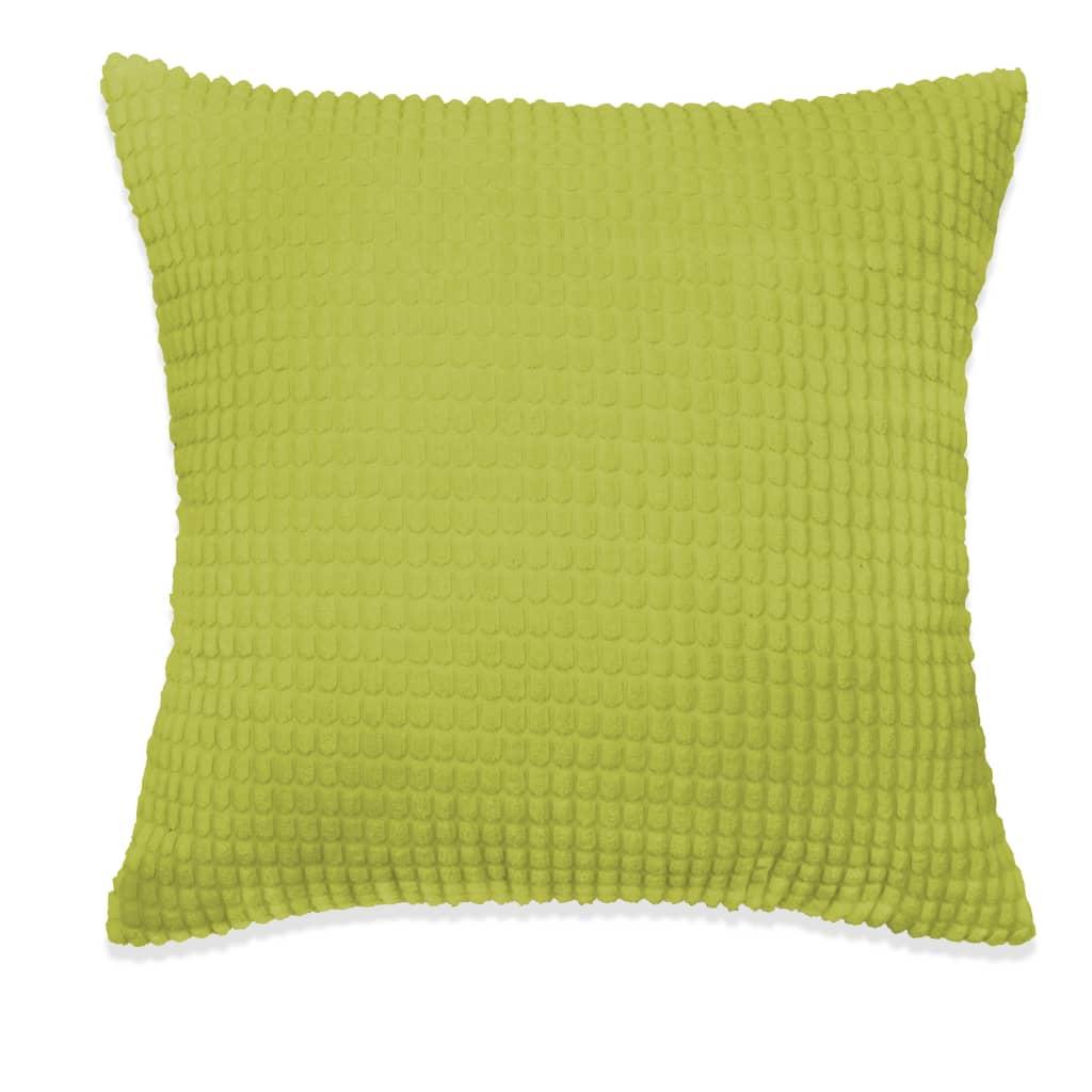 vidaXL Sada polštářů 2 ks velur, 45 x 45 cm, zelené
