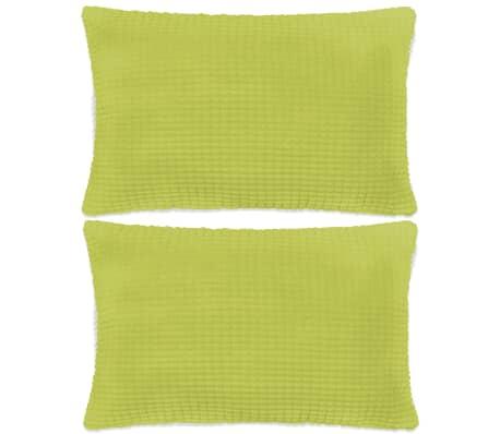 vidaXL Set perne decorative 2 buc. Velur 40 x 60 cm Verde