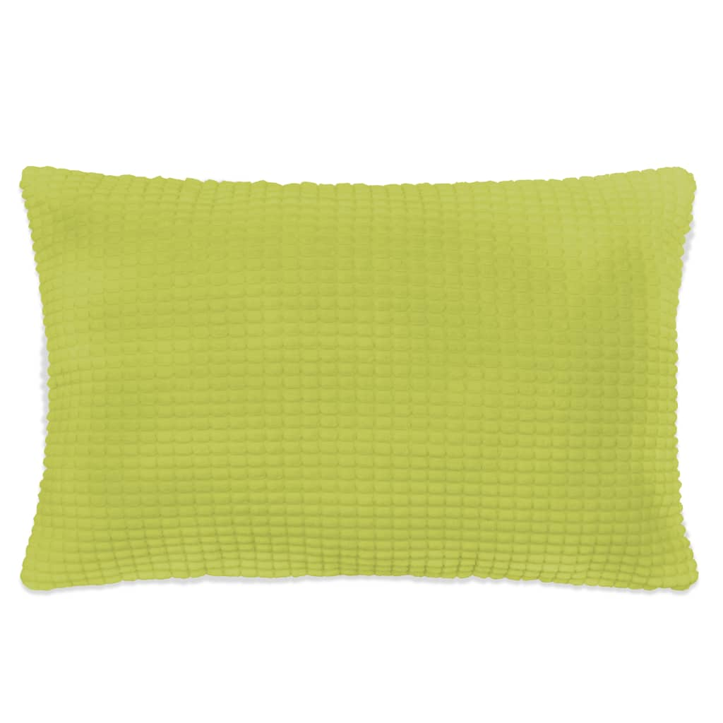vidaXL Sada polštářů 2 ks velur, 40 x 60 cm, zelené