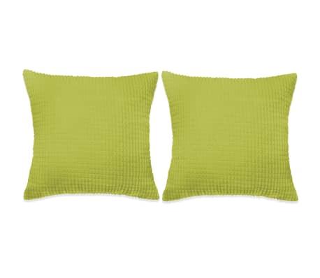 vidaXL Kudde 2 st velour grön 60x60 cm