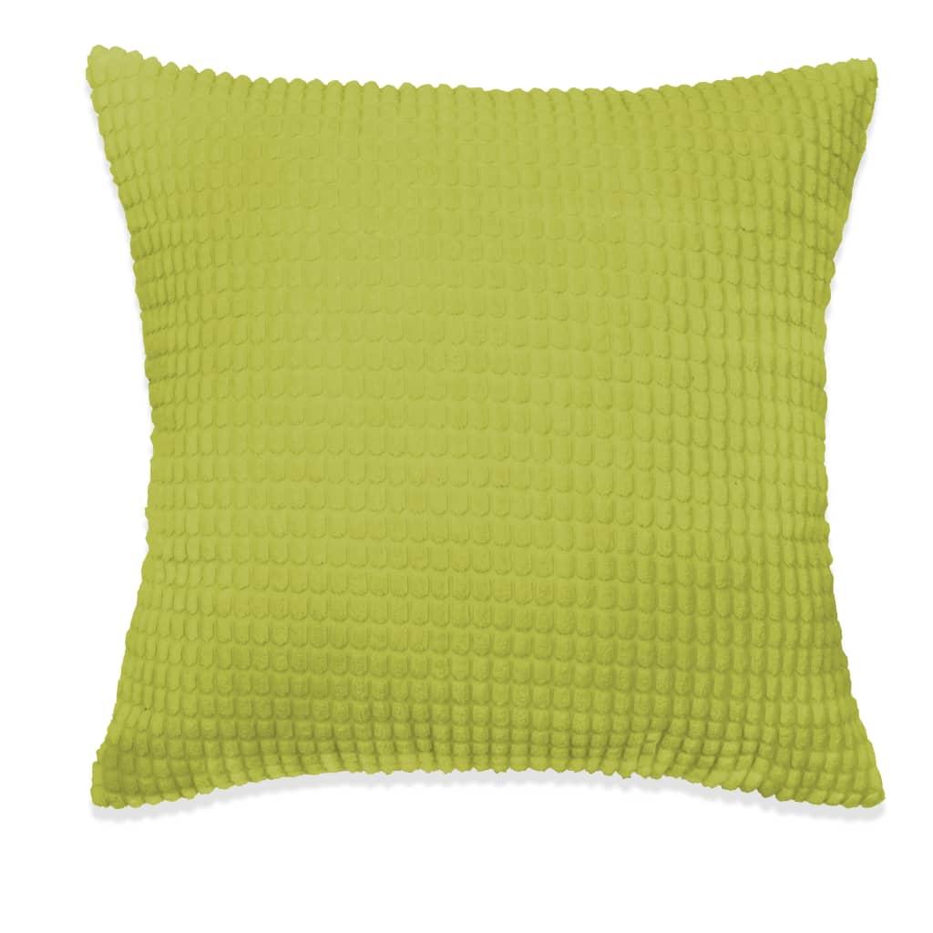 vidaXL Sada polštářů 2 ks velur, 60 x 60 cm, zelené
