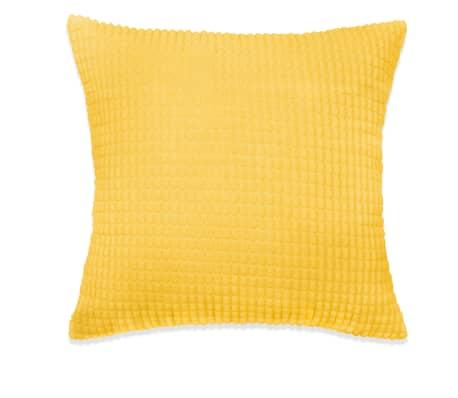 vidaXL Set Jastuka 2 kom od Velura 45x45 cm Žuti[2/5]