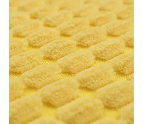 vidaXL Set Jastuka 2 kom od Velura 45x45 cm Žuti[5/5]