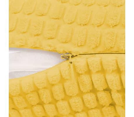 Vidaxl Poduszki Ozdobne 2 Szt Welur 40x60 Cm żółty