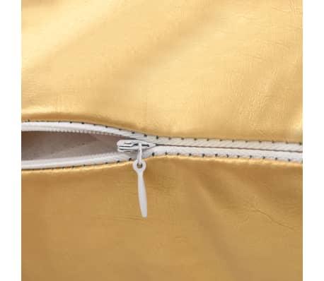 vidaXL Set jastuka od PU kože 2 kom 40x60 cm boje zlata[4/5]