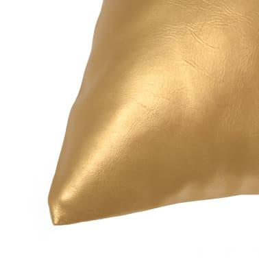 vidaXL Set jastuka od PU kože 2 kom 40x60 cm boje zlata[3/5]