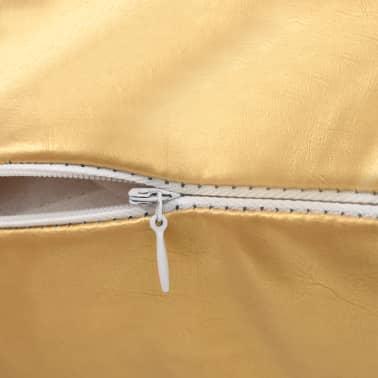 vidaXL diivanipatjade komplekt, 2 tk, 60 x 60 cm, kuldne[4/5]