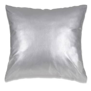 vidaXL Set jastuka od PU kože 2 kom 45x45 cm srebrni[2/5]