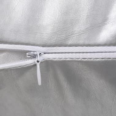 vidaXL Set jastuka od PU kože 2 kom 40x60 cm srebrni[4/5]