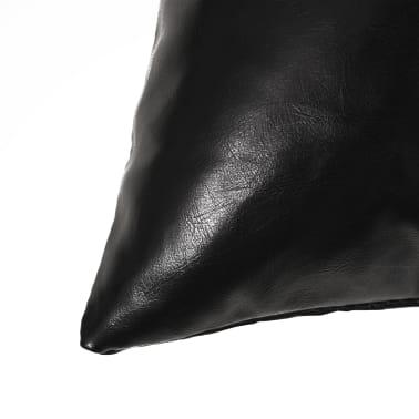 vidaXL Set jastuka od PU kože 2 kom 40x60 cm crni[3/5]