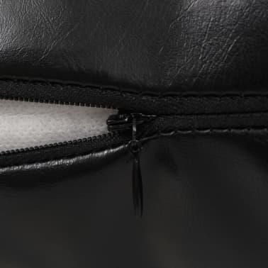 vidaXL Set jastuka od PU kože 2 kom 40x60 cm crni[4/5]
