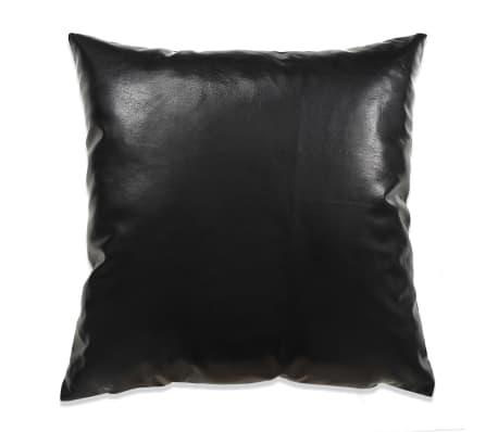 vidaXL Set jastuka od PU kože 2 kom 60x60 cm crni[2/5]