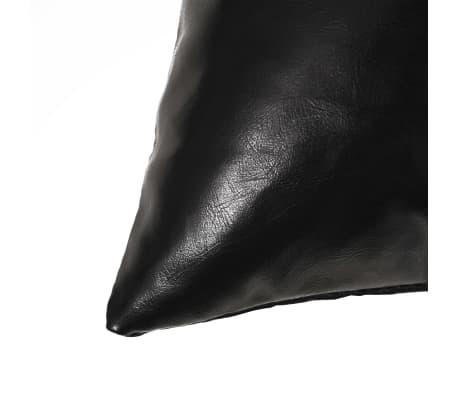 vidaXL Set jastuka od PU kože 2 kom 60x60 cm crni[3/5]