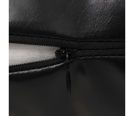 vidaXL Set jastuka od PU kože 2 kom 60x60 cm crni[4/5]