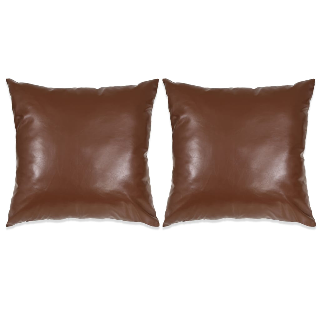 vidaXL Set perne decorative 2 buc. Poliuretan 45x45 cm Maro poza vidaxl.ro
