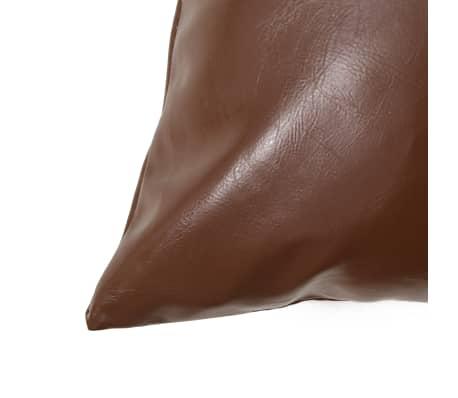 vidaXL Set jastuka od PU kože 2 kom 45x45 cm smeđi[3/5]