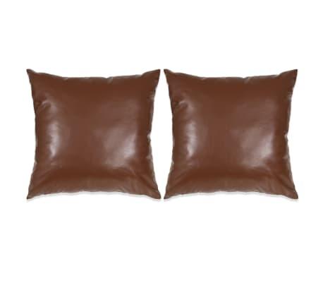 vidaXL Set perne decorative 2 buc. Poliuretan 60x60 cm Maro