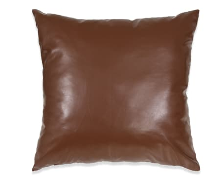 vidaXL Set jastuka od PU kože 2 kom 60x60 cm smeđi[2/5]