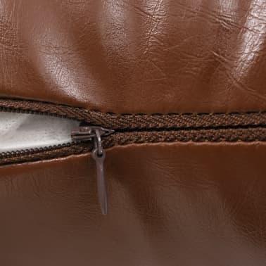 vidaXL Set jastuka od PU kože 2 kom 60x60 cm smeđi[4/5]