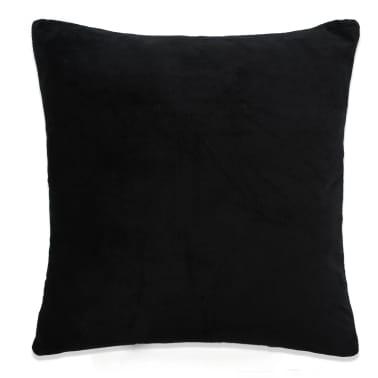 vidaXL Set jastuka od velura 2 kom 45x45 cm crni[2/5]