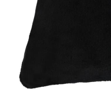 vidaXL Set jastuka od velura 2 kom 45x45 cm crni[3/5]