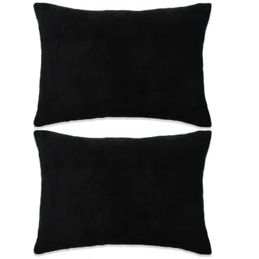 vidaXL Set jastuka od velura 2 kom 40x60 cm crni[1/5]