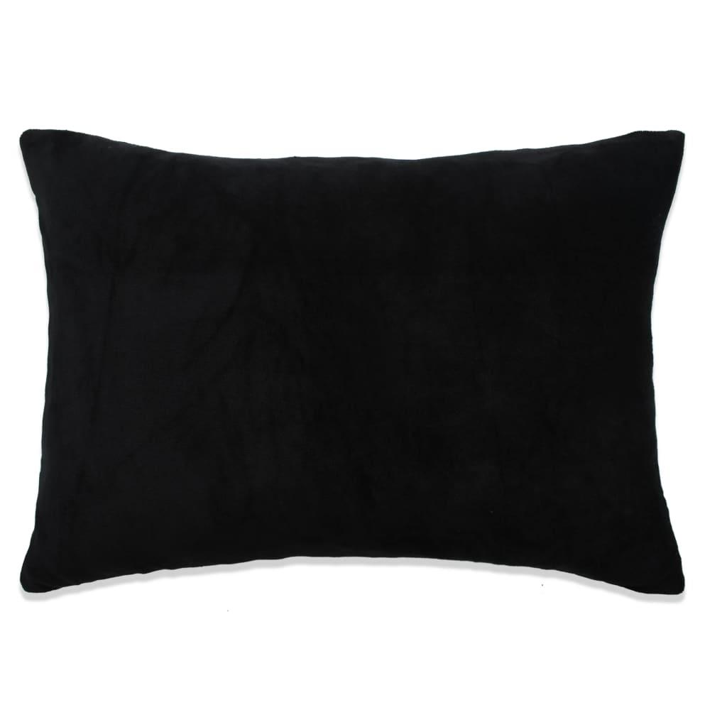 vidaXL Sada polštářů 2 ks velur, 40 x 60 cm, černé