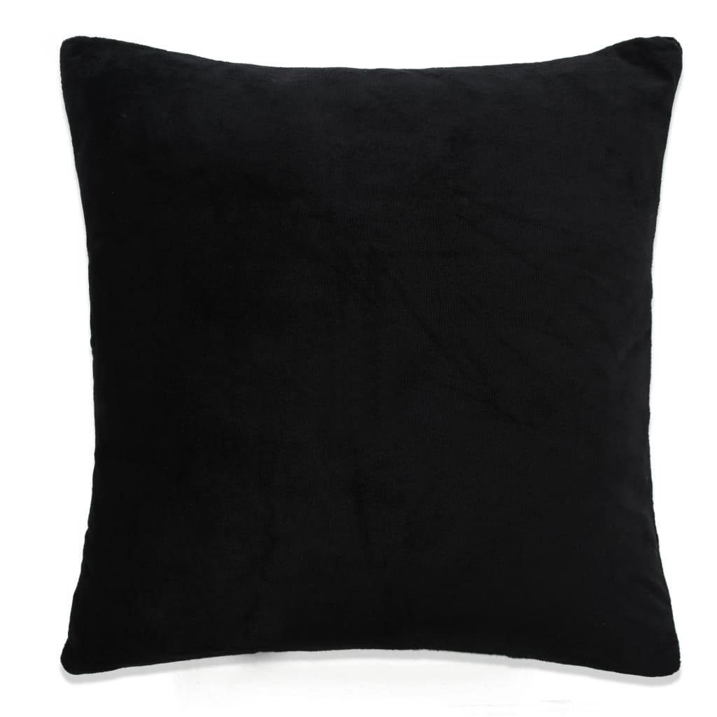 vidaXL Povlaky na polštář 4 ks velur 40 x 40 cm černé