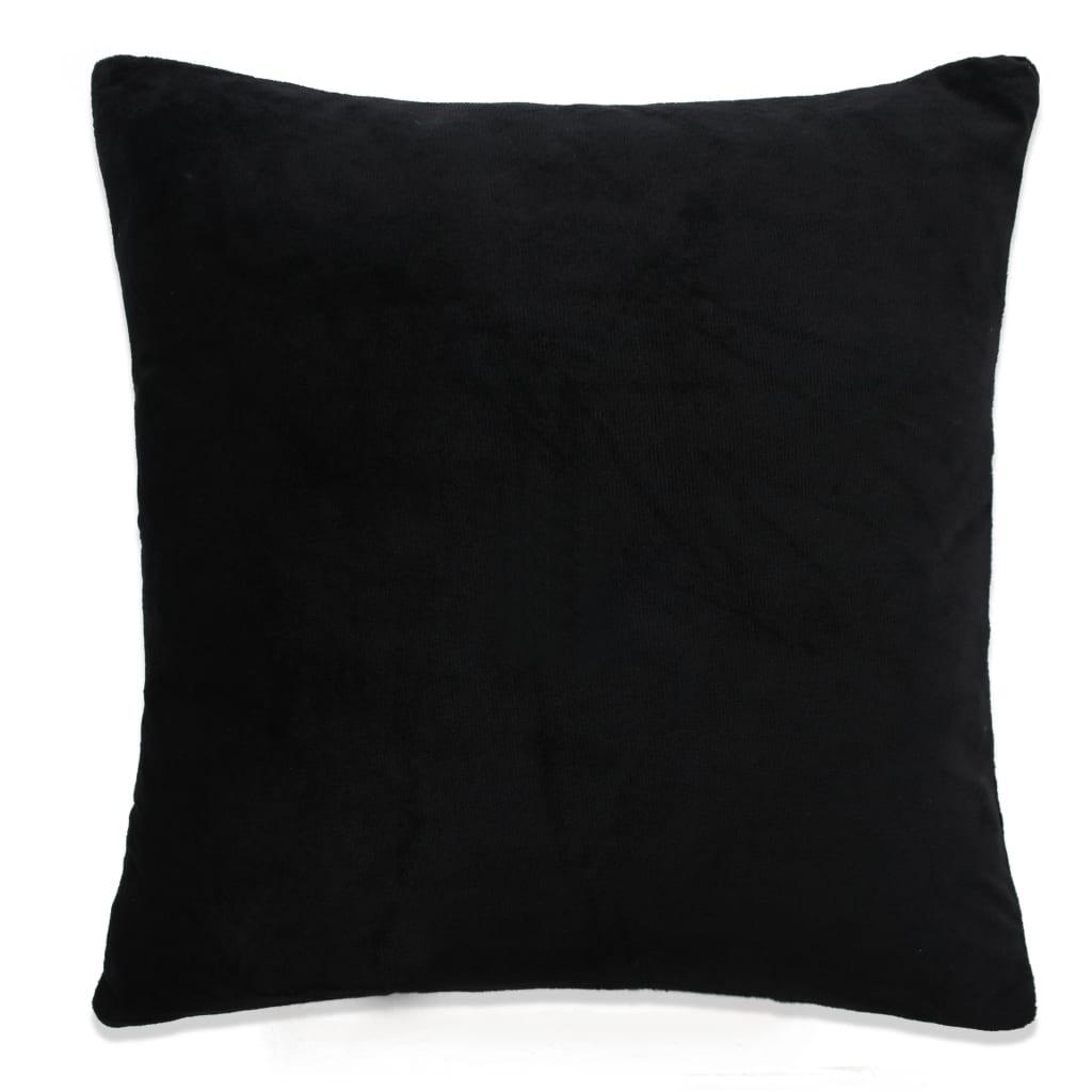 vidaXL Povlaky na polštář 4 ks velur, 50 x 50 cm, černé