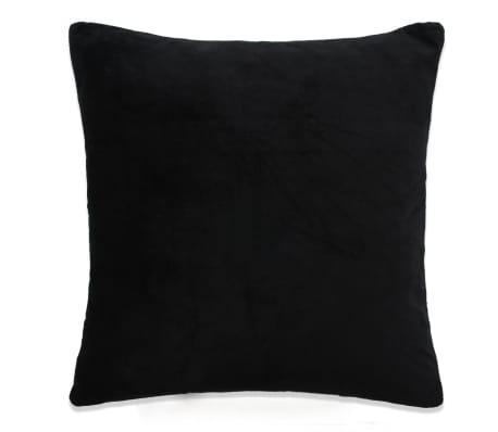 vidaXL Jastučnice od velura 4 kom 50x50 cm crne[2/5]