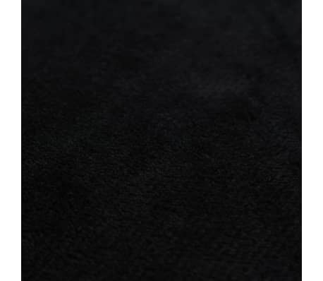 vidaXL Jastučnice od velura 4 kom 50x50 cm crne[4/5]