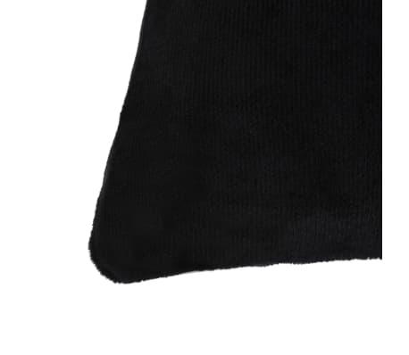 vidaXL Jastučnice od velura 4 kom 80x80 cm crne[3/5]