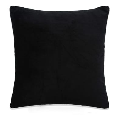vidaXL Jastučnice od velura 4 kom 80x80 cm crne[2/5]