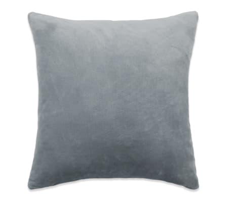vidaXL Set jastuka od velura 2 kom 45x45 cm sivi[2/5]