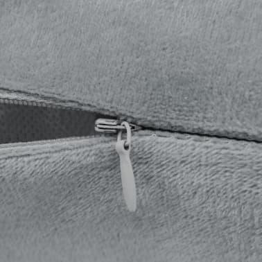 vidaXL Set jastuka od velura 2 kom 45x45 cm sivi[4/5]
