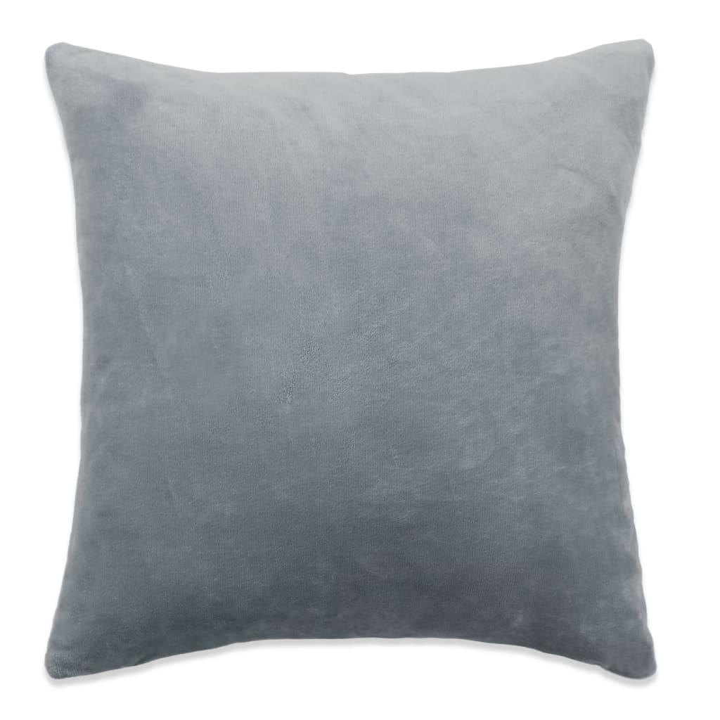 vidaXL Povlaky na polštář 4 ks velur, 50 x 50 cm, šedé