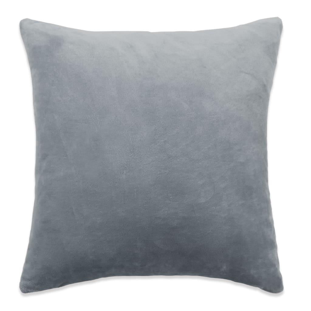 vidaXL Povlaky na polštář 4 ks velur, 80 x 80 cm, šedé