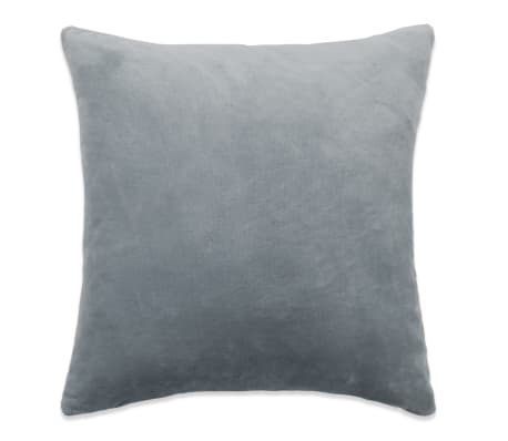 vidaXL Jastučnice od velura 4 kom 80x80 cm sive[2/5]