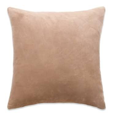 vidaXL Cojines de terciopelo 45x45 cm beige 2 unidades[2/5]