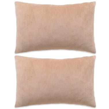 vidaXL Set jastuka od velura 2 kom 40x60 cm bež[1/5]