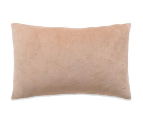 vidaXL Set jastuka od velura 2 kom 40x60 cm bež[2/5]