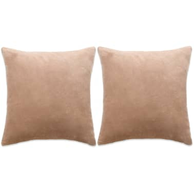 vidaXL Set jastuka od velura 2 kom 60x60 cm bež[1/5]