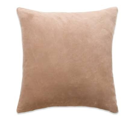 vidaXL Set jastuka od velura 2 kom 60x60 cm bež[2/5]