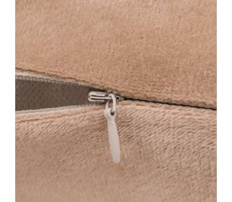 vidaXL Set jastuka od velura 2 kom 60x60 cm bež[4/5]
