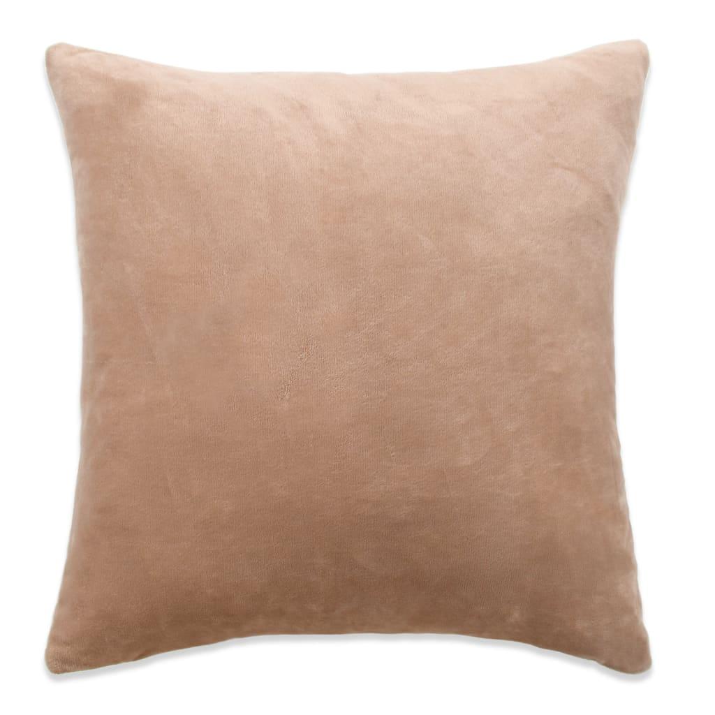 vidaXL Povlaky na polštář 4 ks velur, 40 x 40 cm, béžové