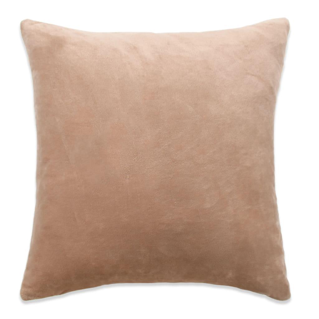 vidaXL Povlaky na polštář 4 ks velur, 50 x 50 cm, béžové
